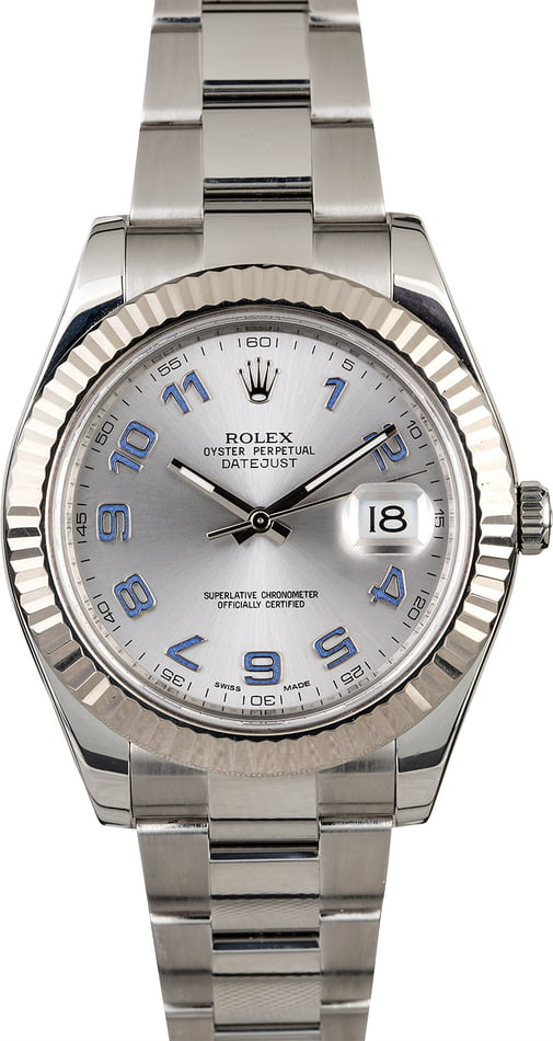 Used Rolex Datejust 116334 Lilac Arabic Hour Markers