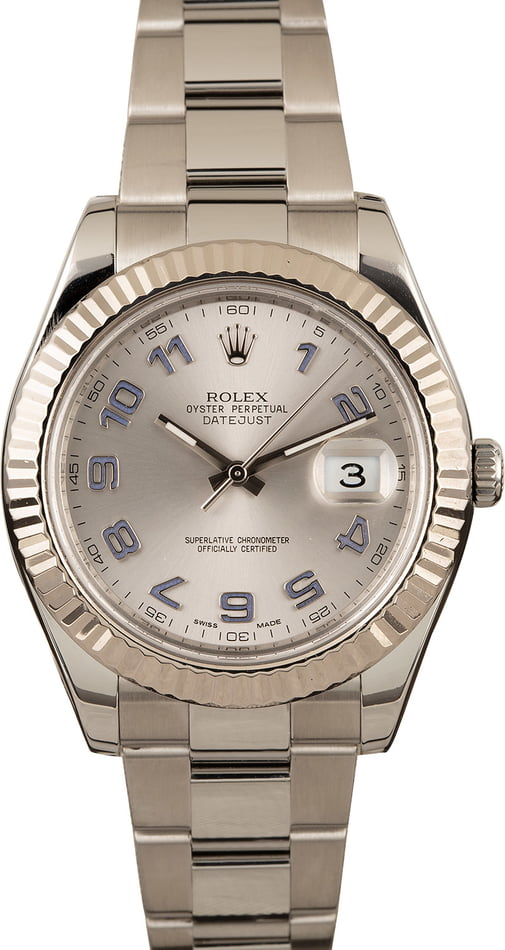 Pre-Owned Rolex Datejust 116334 Blue Arabic Markers T