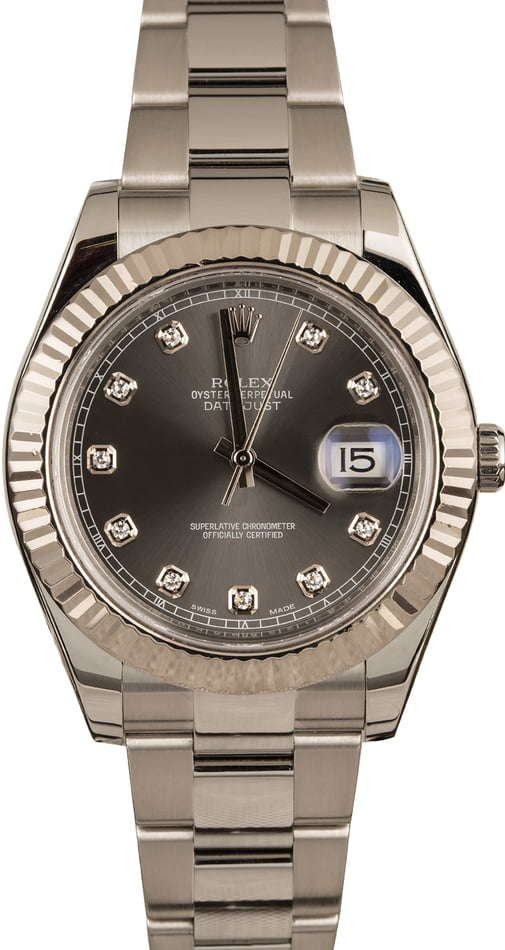 Pre-Owned Rolex Datejust 116334 Diamond Dial