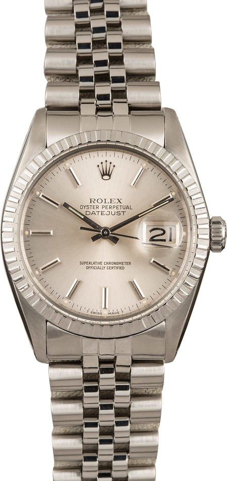 Pre Owned Rolex Datejust 16030 Stainless Steel Jubilee