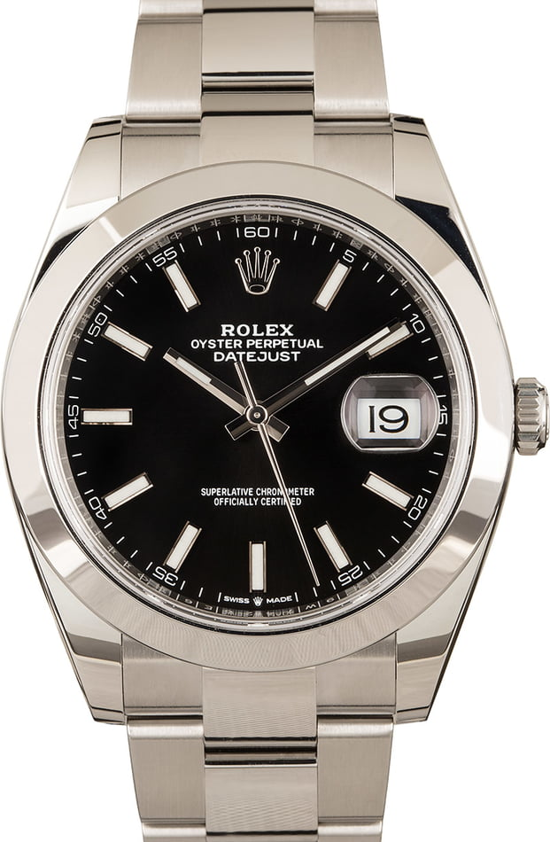 Pre-Owned Rolex Datejust 126300 Steel Oyster