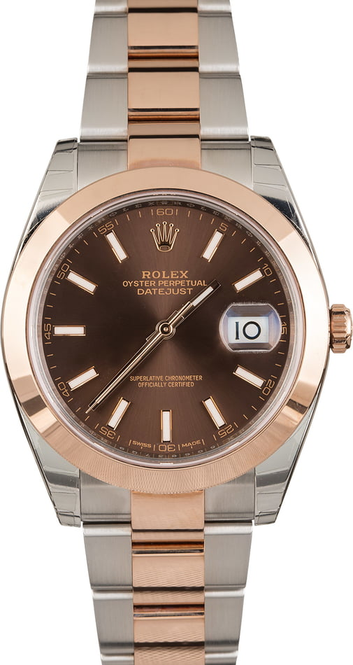 Unworn Rolex Datejust 126301 Two Tone Everose