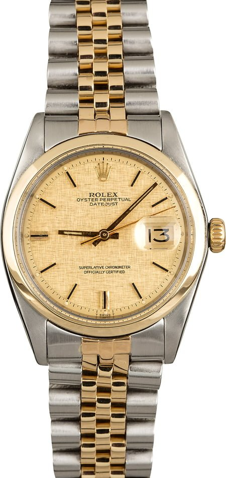 Rolex Datejust 1600 Linen 'Pie Pan' Dial