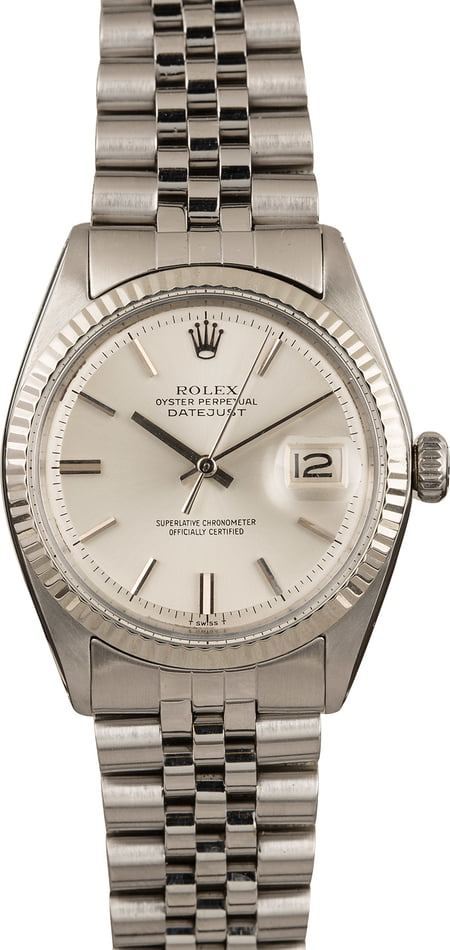 Used Rolex Datejust 1601 Silver Index Dial