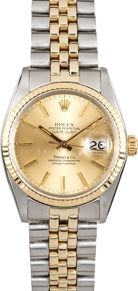 Rolex Datejust 1601 Tiffany & Co Dial