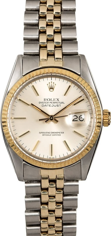 Men's Rolex Datejust 16013 Silver Dial