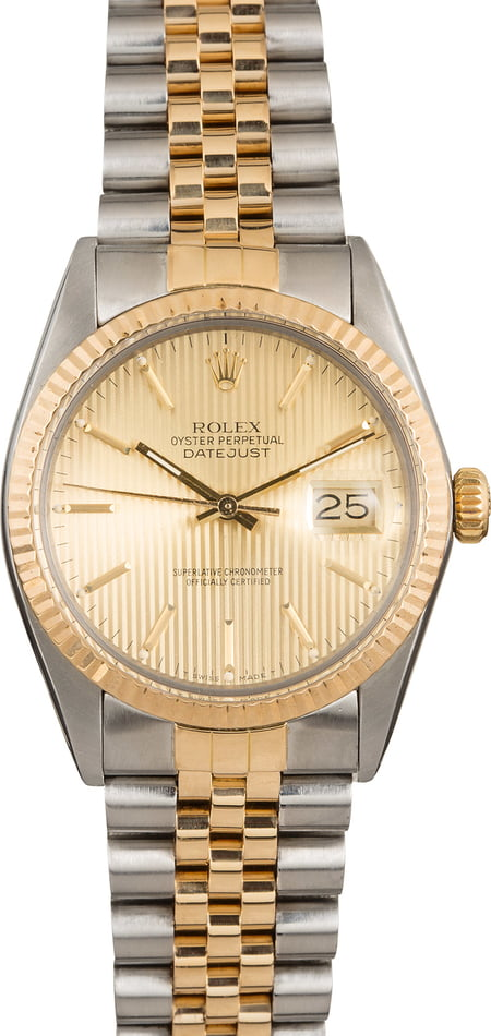 Pre-Owned Rolex Datejust 16013 Champagne Tapestry Dial