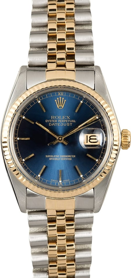 Rolex Datejust 16013 Blue 100% Authentic