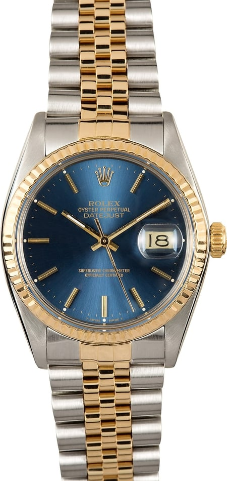 Rolex Datejust 16013 Blue Certified Authentic