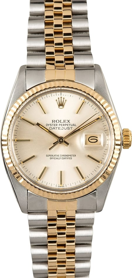 Rolex Datejust 16013 Certified Pre-Owned Silver