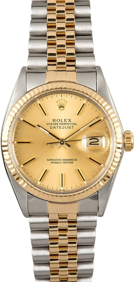 Rolex Datejust 16013 Champagne Certified Pre-Owned