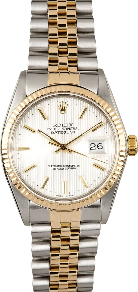 Rolex Datejust 16013 Ivory Tapestry Dial