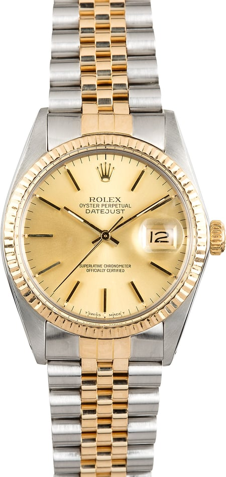 Rolex Datejust Champagne Dial 16013 Jubilee