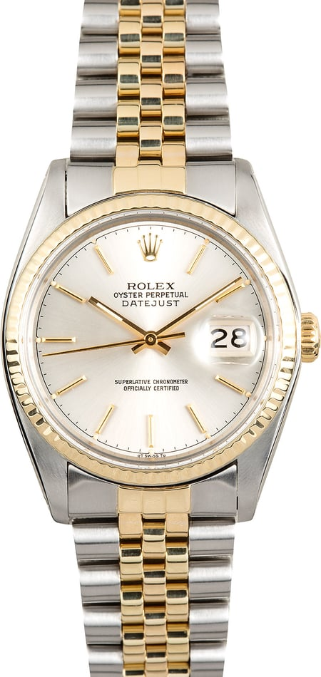Rolex Datejust 16013 Silver Dial Certified Pre-Owned
