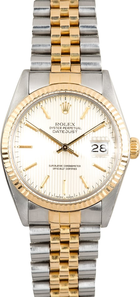 Rolex Datejust 16013 Silver Tapestry