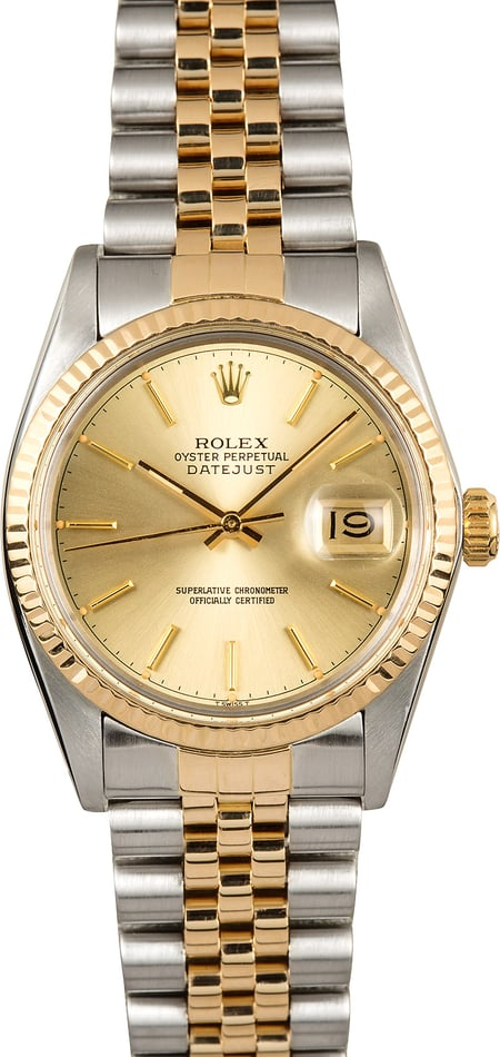 Rolex Datejust 16013 Steel and Gold Jubilee
