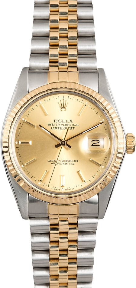 16013 Rolex Two-Tone Datejust