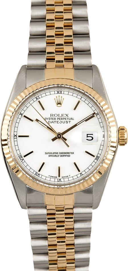 Rolex Datejust 16013 White Certified Pre-Owned