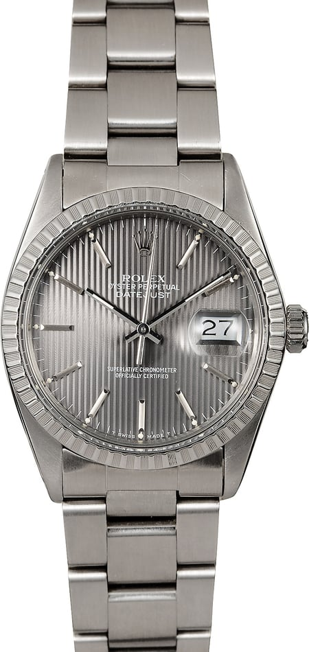Rolex Datejust 16030 Slate Tapestry Dial