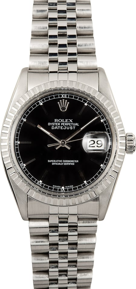 Rolex Datejust 16030 Black Index Dial