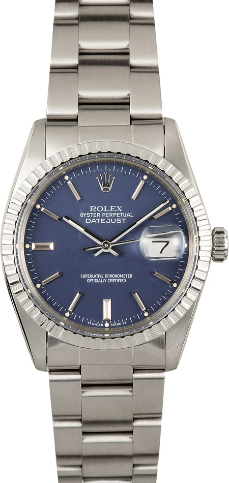 Rolex Datejust 16030 Blue Dial 100% Authentic