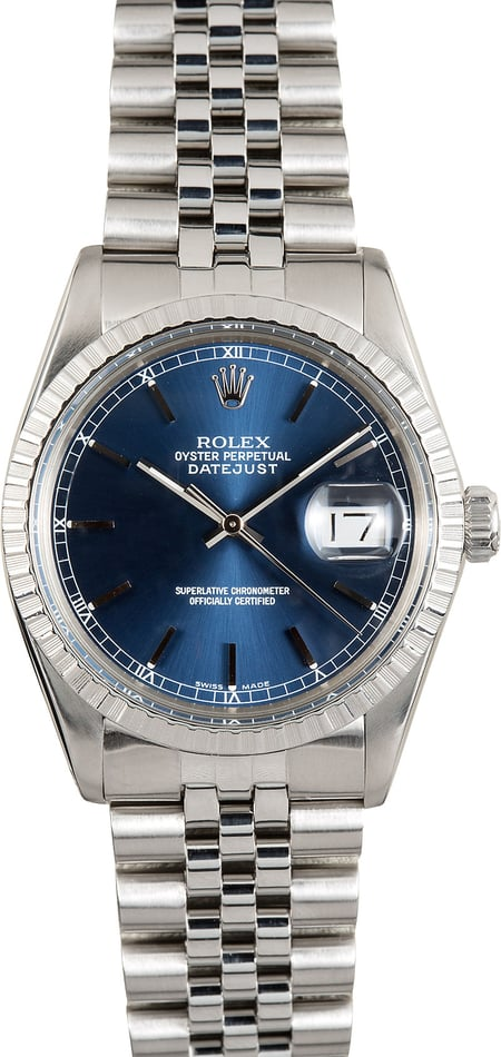 Rolex Datejust 16030 Blue Index Dial