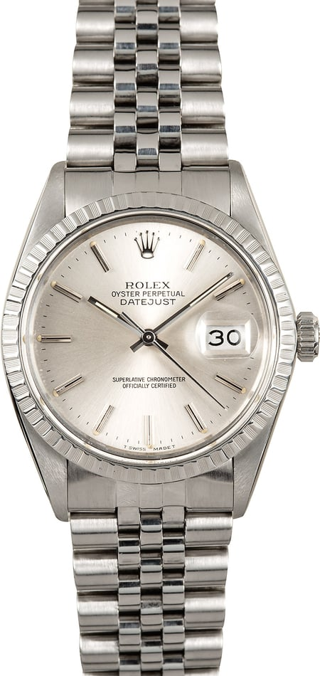 Rolex Datejust 16030 Silver Dial 100% Authentic