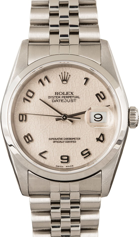 Rolex Datejust 16200 Steel Jubilee Band