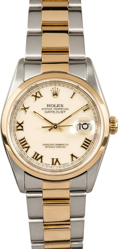 Rolex Datejust 16203 Ivory Dial