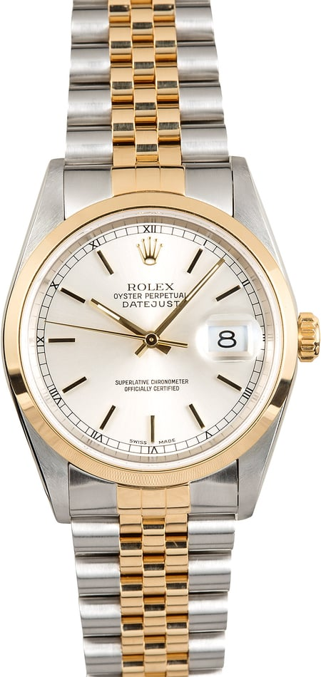 Rolex Datejust 16203 Smooth Bezel