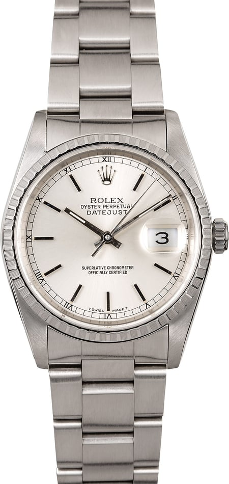 Rolex Datejust 16220 Silver Dial