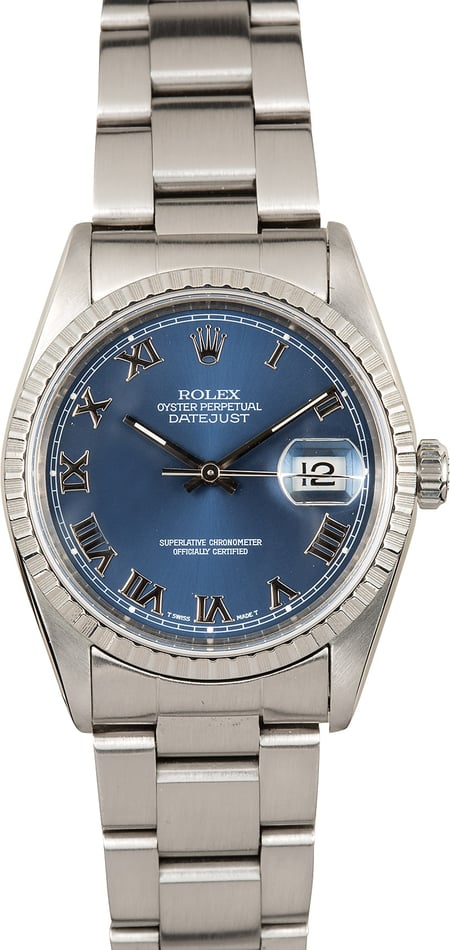 Rolex Datejust 16220 Blue Dial