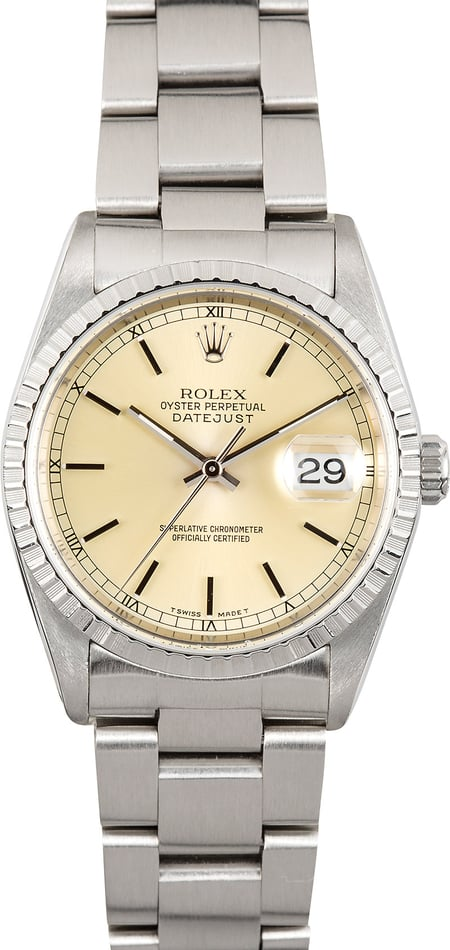 Rolex Datejust 16220 Steel