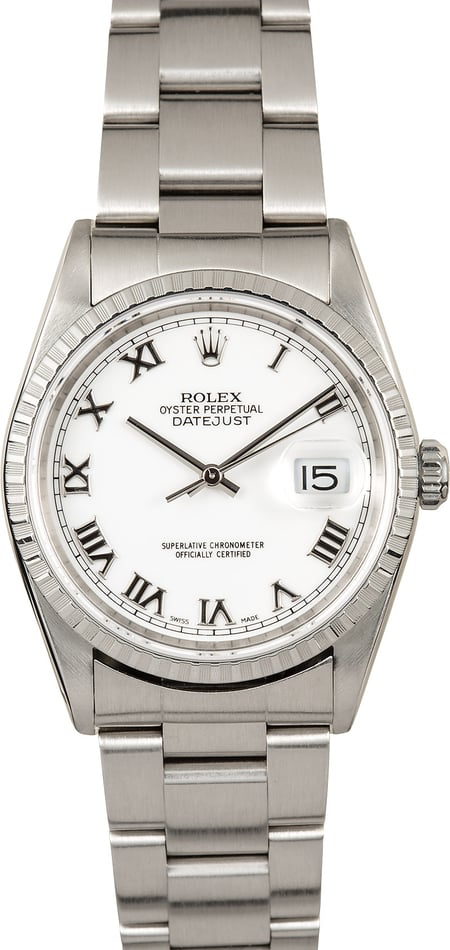 Rolex Datejust 16220 White Dial