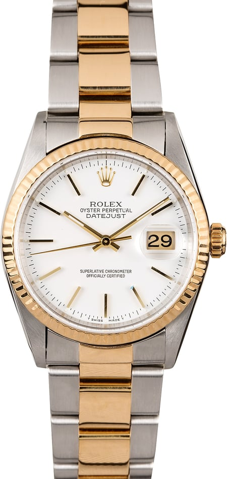 Datejust Rolex 16233 Steel & Gold Oyster