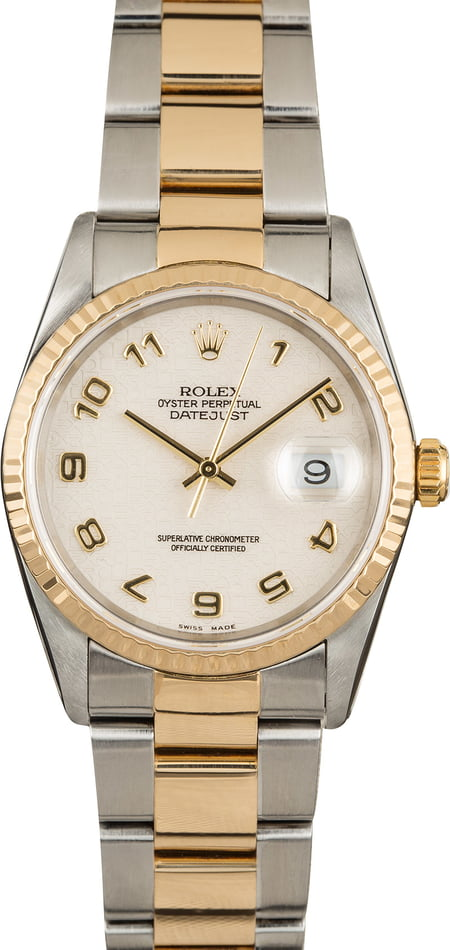 Pre Owned Rolex Datejust 16233 Ivory Jubilee Dial