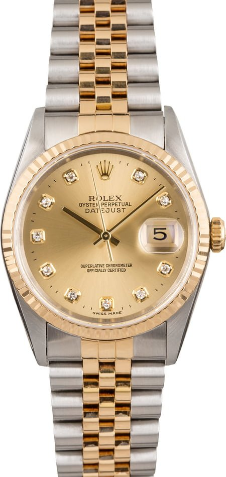 Pre Owned Rolex Datejust 16233 Diamonds