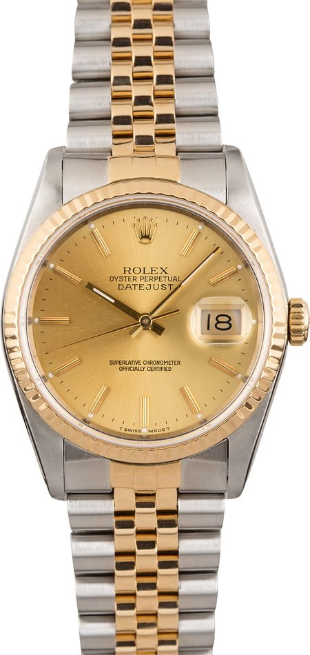 Pre Owned Rolex Datejust 16233 Jubilee Band