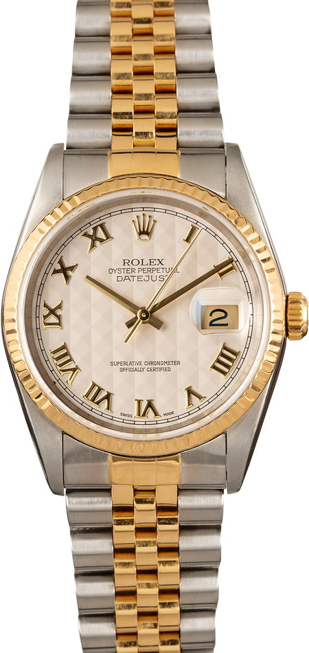 Rolex Datejust 16233 Two Tone Roman
