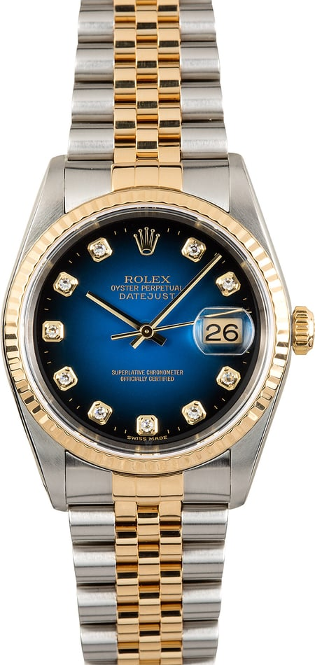 Rolex Datejust 16233 Blue Diamond Vignette