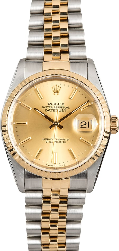 Rolex 36MM Datejust 16233 Champagne Dial