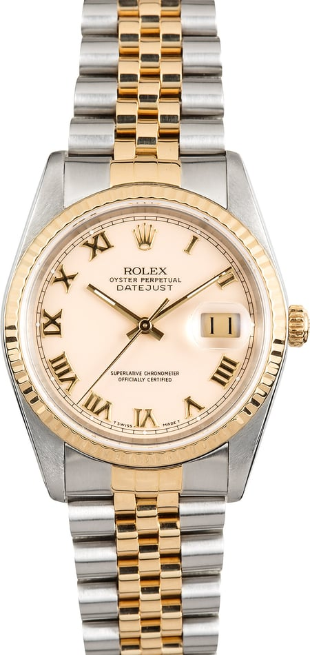 Rolex Datejust 16233 Ivory Roman Dial