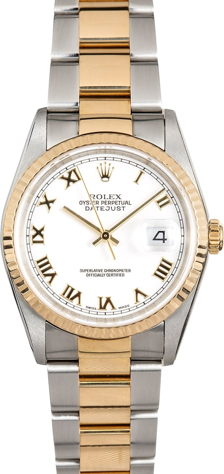 Rolex Datejust 16233 Steel & Gold Oyster