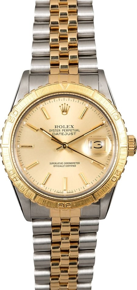 Rolex Thunderbird DateJust Stainless Steel and Gold