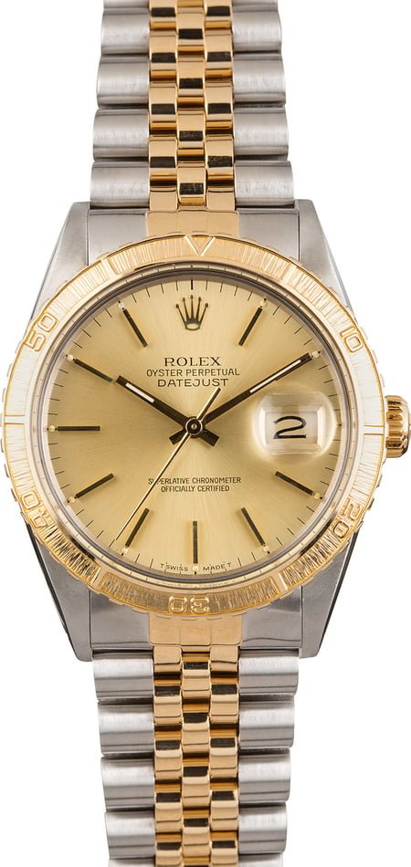 Used Rolex Thunderbird DateJust 16253 Two Tone