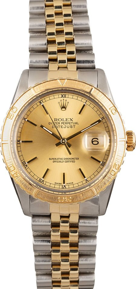 Used Rolex Thunderbird DateJust 16253 Steel and Gold