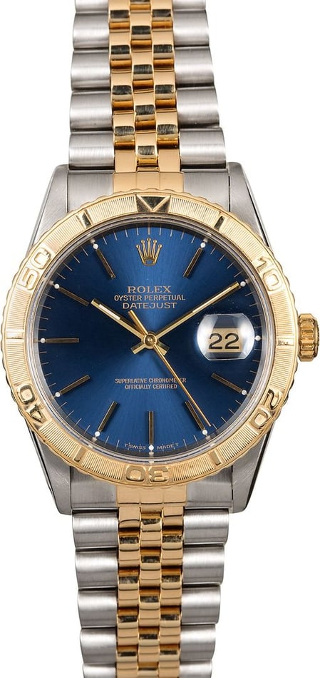 Men's Rolex Datejust 16263 Blue Thunderbird