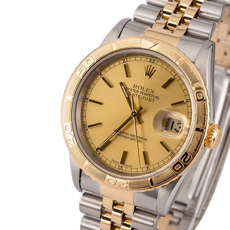 Rolex Datejust 16263 Turn O Graph Bezel 36mm Two Tone Jubilee Circa 1999