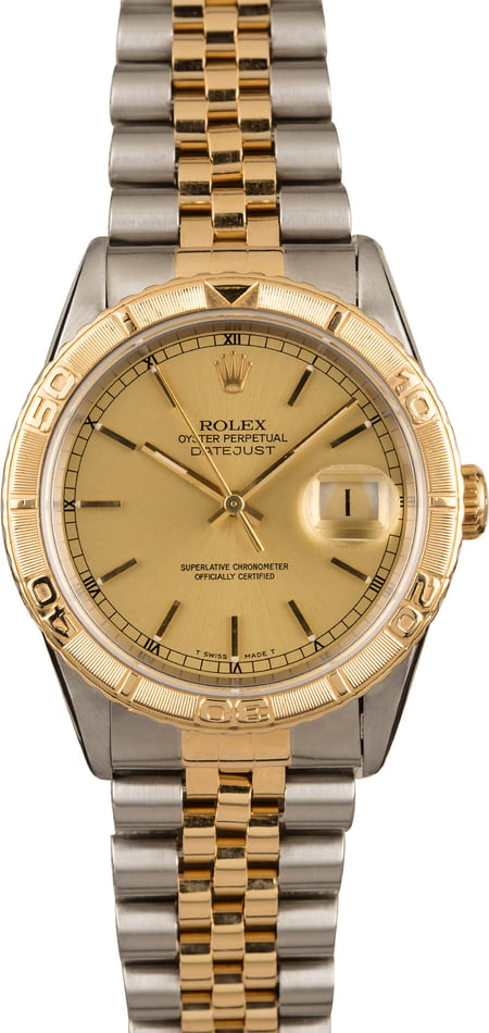Used Rolex Datejust Turn-O-Graph 16263 Two Tone Jubilee Band T