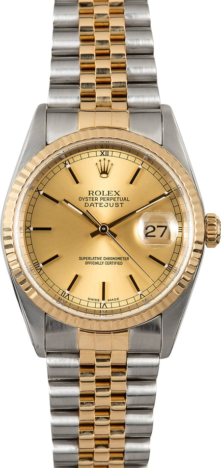 Rolex Datejust 36MM 16233 Champagne Dial